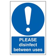 Please Disinfect Between Uses
