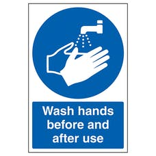 Wash Hands Before And After Use