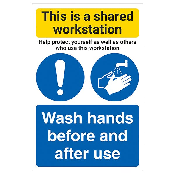 Shared Workstation/Wash Hands