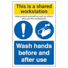 Shared Workstation/Wash Hands