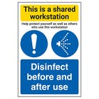 Shared Workstation/Disinfect