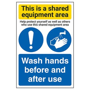 Shared Equipment Area/Wash Hands