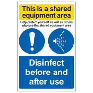 Shared Equipment Area/Disinfect