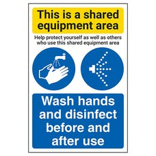 Shared Equipment Area/Wash Hands And Disinfect