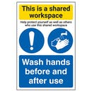 Shared Workspace/Wash Hands