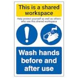 Shared Workspace/Wash Hands