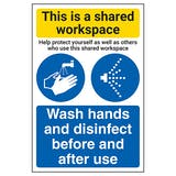 Shared Workspace/Wash Hands And Disinfect