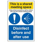 Shared Meeting Space/Disinfect