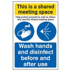 Shared Meeting Space/Wash Hands And Disinfect