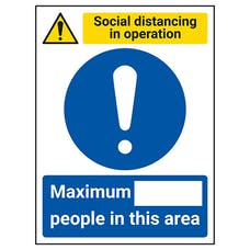 Social Distancing In Operation - Max People In This Area
