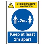 Social Distancing In Operation - Keep 2m Apart