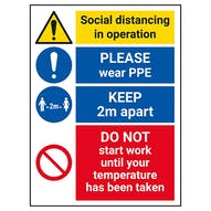 Social Distancing In Operation - PPE - DO NOT Work