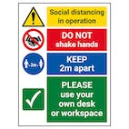 Social Distancing In Operation - Use Own Desk Or Workspace