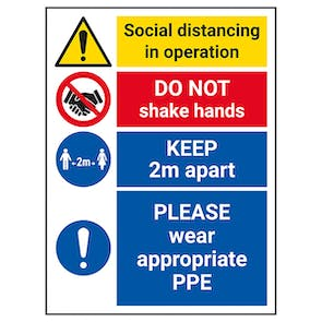 Social Distancing In Operation - Wear Appropriate PPE