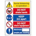 Social Distancing In Operation - 2m Apart - DO NOT Share