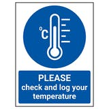 PLEASE Check And Log Your Temperature