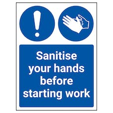 Sanitise Your Hands Before Starting Work