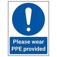 Please Wear PPE Provided