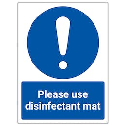 Please Use Disinfectant Mat