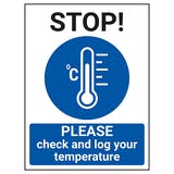 STOP - Please Check And Log Your Temperature