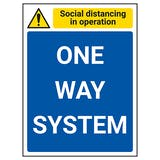 Social Distancing In Operation - One Way System