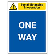 Social Distancing In Operation - One Way