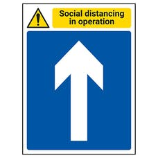 Social Distancing In Operation - Arrow Up