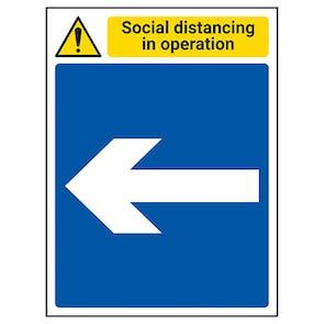 Social Distancing In Operation - Arrow Left