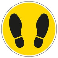 Footprint Temporary Floor Sticker