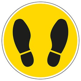 Footprint Temporary Floor Sticker