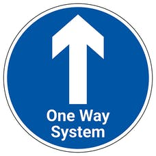 One Way System With Arrow Temporary Floor Sticker