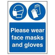 Please Wear Face Masks And Gloves