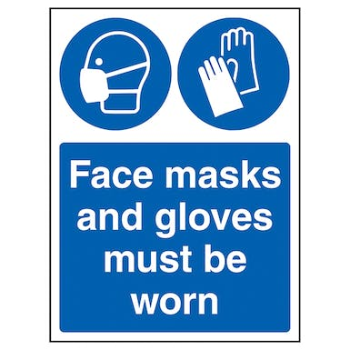 Face Masks And Gloves Must Be Worn