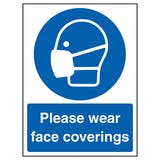 Please Wear Face Coverings