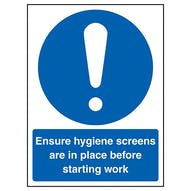 Ensure Hygiene Screens In Place Before Work