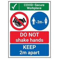 COVID-Secure Workplace - DO NOT Shake Hands