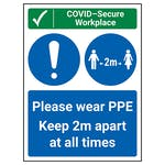 COVID-Secure Workplace - PPE / Keep 2m Apart