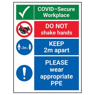 COVID-Secure Workplace - Appropriate PPE