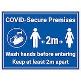 COVID-Secure Premises - 2m - Wash Hands Before Entering