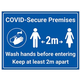 COVID-Secure Premises - 2m - Wash hands before entering