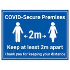 COVID-Secure Premises - 2m - Keep At Least 2m Apart