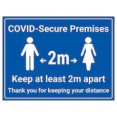 COVID-Secure Premises - 2m - Keep At Least 2m Apart