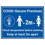COVID-Secure Premises - Check Temp Before Entering