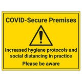 COVID-Secure Premises - Please Be Aware
