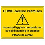 COVID-Secure Premises - Please Be Aware