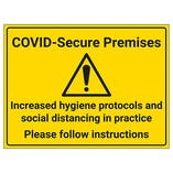 COVID-Secure Premises - Follow Instructions
