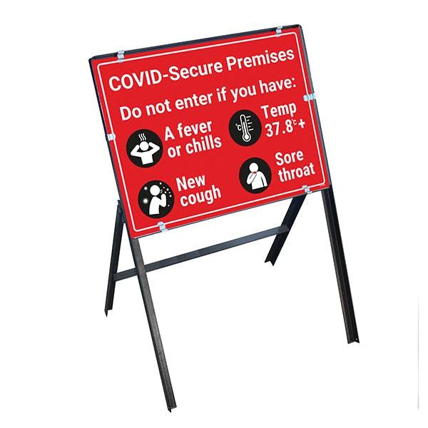 COVID-Secure Premises - Do Not Enter Stanchion Frame
