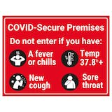 COVID-Secure Premises  - Do Not Enter If You Have...