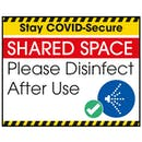 Stay COVID-Secure SHARED SPACE Label