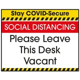 Stay COVID-Secure SOCIAL DISTANCING Label
